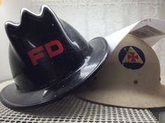 Fireman and civil defense vintage helmets your choice $99 USD each in Case 15