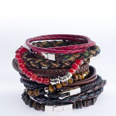 Tateossian men's jewelry...I collect& wear all together from places like Daylesford, Torquay, Far North Queensland Beaches& Daintree! Every new adventure I will be collecting new one's, adding them to my wrist ; )
