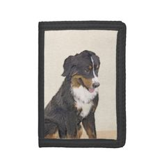 Bernese Mountain Dog Tri-fold Wallets - dog puppy dogs doggy pup hound love pet best friend