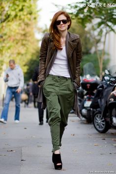 la street fashion | Street Style : quand le style army devient glamour