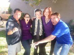A candid behind-the-scenes photo of the original 5 cast members: Adam Richmond, Meli Alexander, Doug Presley, Loa Allebach and Danny McDermott.