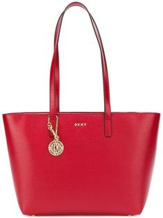 DONNA KARAN RED. #donnakaran #bags #leather #hand bags #bucket #lining #