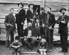 William 'Devil' Anse Hatfield of West Virginia and the men of the family, 1897.  A feud between two families, the Hatfields of West Virginia and the McCoys of Kentucky, made their families famous. Great Depression, Teen Depression, Bonus Army, Devil, Brother, Sibling