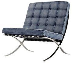 Barcelona chair - denim cushion cover Saw it at HomeSense (Canada)
