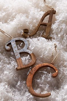 rustic monogram ornament #anthrofave