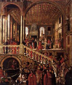 Giovanni Mansueti - The Miraculous Healing of the Daughter of Benvegnudo of San Polo  c. 1505  Tempera on canvas, 369 x 296 cm  Gallerie dell'Accademia, Venezia