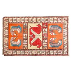 (11DA) A Turkish Hand-Knotted Pictorial Kilim Rug n\On ivory ground and decorated with panels with horses, phoenixes, cockerels and geometric… / MAD on Collections - Browse and find over 10,000 categories of collectables from around the world - antiques, stamps, coins, memorabilia, art, bottles, jewellery, furniture, medals, toys and more at madoncollections.com. Free to view - Free to Register - Visit today. #Rugs #Carpets #Textiles #MADonCollections #MADonC