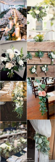 Eucalyptus green wedding color ideas