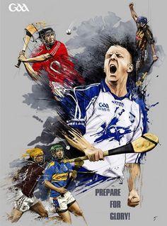 Gaa hurling by tomasz usyk, via behance Sports Party, Kids Sports, Sport Man, Sport Girl, Diabetic Dog, Magazine Art, Custom Posters, Gym Men, Sports