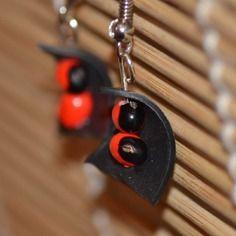 Boucles d'oreille chambre à air et graine de liane réglisse (madagascar)