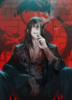 Hot Anime Boy, Dark Anime Guys, Cool Anime Guys, Handsome Anime Guys, Anime Demon Boy, Manga Art, Manga Anime, Anime Harem, Anime Boy Zeichnung