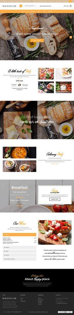 Magnium is wonderful Premium Responsive #Prestashop Theme for multipurpose eCommerce #website with Visual drag & drop Page Builder. #restaurant Download Now!