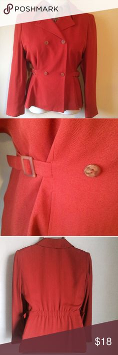 ✨NEW Listing✨Casual Corner rust blazer Great rust colored Casual Corner blazer jacket. Double breasted button front with adjustable cinch ties on sides for a better fit. Elastic in back for additional stretch for fit. Herringbone pattern. Lined inside. 50% acetate/50% rayon. Lining: 100% polyester. Size is 6. Not interested in trades. Casual Corner Jackets & Coats Blazers