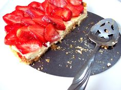 Fresh Strawberry and Ricotta Tart - For Low Carb, use favorite crust, preferred sweetener and sugar free strawberry jam / Proud Italian Cook