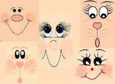 how to paint draw eyes doll mouth an excellent page for easy cute animal & human faces with various expressions a must for all crafty crafters.