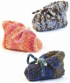 Add these Knit and Purl Baby Booties to your free knitting patterns for baby boys list. Not only are these booties easy to knit, but theyll work up quickly and can easily be altered for a baby girl - just change the colors. So if youve been looking for an easy baby shower gift, let this pattern help you create a practical, homemade present any mother-to-be.