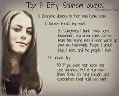 Top 5 Effy quotes, Skins UK
