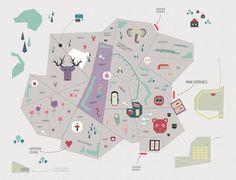 Prague Zoo App by Alina Kotova Icon Design, Illustration, UI/UX on Behance Map Design, Icon Design, Graphic Design, Prague Zoo, Zoo Map, Visual Communication Design, Book Cover Design, Map Art, Graphic Illustration