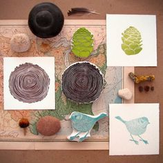 printmaking - inspiration from nature