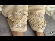 BEAUTIFUL SHALWAR POUNCHA DESIGNS FOR GIRLS 2017 - 2018 - YouTube Salwar Designs, Blouse Designs, Leggings Fashion, Fashion Pants, Dress Shirts For Women, Clothes For Women, Salwar Pattern, Salwar Pants, Embroidery Suits