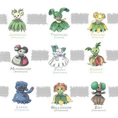 Bellossom's Breed Variations by NozakiRuisu on DeviantArt