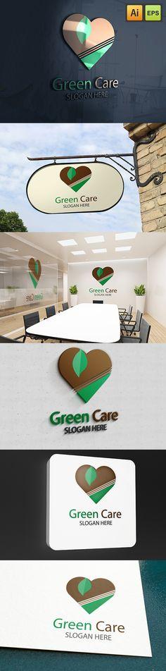 """@Behance projeme göz atın: """"Green Care Logo""""…"""