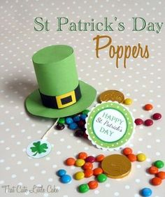 St. Patrick's Day Leprechaun Hat Popper DIY. Fun craft to do with your kids! | CatchMyParty.com