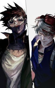 Characters: Dabi, Todoroki Shouto