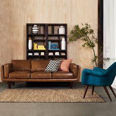 caramel leather lounge decor - Google Search