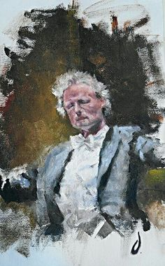 The conductor Oil on canvas