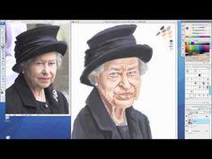 Vídeo: Amarildo fazendo caricatura da Rainha Elizabeth