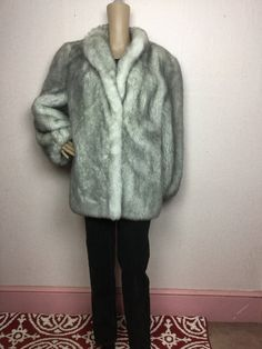 Vintage Faux Fur Coat 70s Plush Fur Gray White Faux Fox Fur Jacket. Stroller Coat. Vegan Faux Fur Medium m by 3GenerationCuration on Etsy Coat Sale, Faux Fur, Fur Coat, Vegan, Vintage, Trending Outfits, Etsy, Unique, Jackets