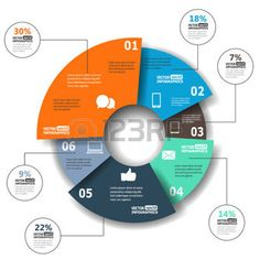 pie chart: Modern paper infographics in a pie chart for web, banners, mobile applications, layouts etc. illustration