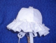 White Baby Sunhat Eyelet and Lace by AdorableandCute on Etsy, $26.00