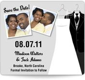 Wedding Dress and Tux Save the Date Magnets