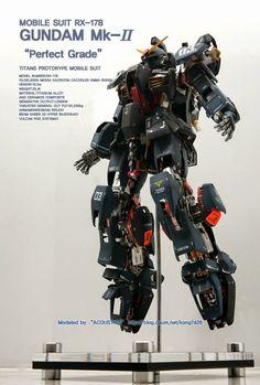 PG 1/60 RX-178 Gundam Mk-II 'Open Hatch' - Custom Build     Modeled by Acoustics