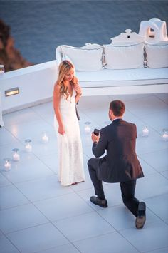 Marriage Proposal Ideas from HowHeAsked Incredible Proposal in Santorini