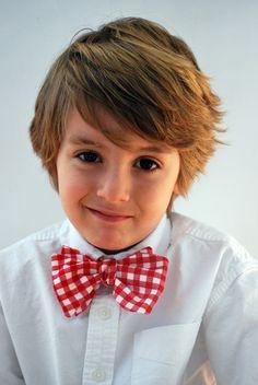Little Man Bow Tie Tutorial and cute boy hair