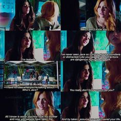 """#Shadowhunters 1x01 """"The Mortal Cup"""" - Clary and Isabelle"""