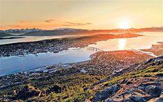 The Midnight Sun Half Marathon in Tromso, Norway.