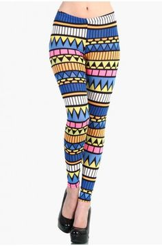 LoveMelrose.com From Harry & Molly | Colorful Aztec Leggings