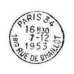 Frantic Stamper Cling-Mounted Rubber Stamp - Rue de Chaillot Postmark