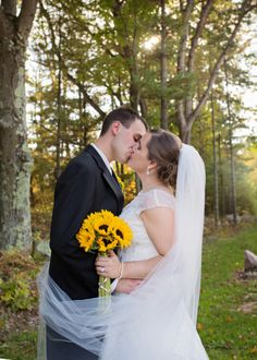 Yesenia & Ryan's Sunflower Themed Fall Wedding|Photographer:  Gosia's Photography