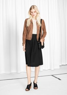 & Other Stories Cotton Skirt, Ready To Wear, Normcore, Style Inspiration, My Style, Skirts, How To Wear, Pants, Black