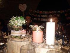 Centro de mesa para bodas con maderas del mar.
