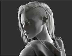 3d hair cards female - Google Search