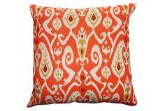 All Over Ikat 24x24 Pillow, Orange on OneKingsLane.com