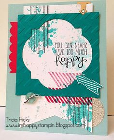 I'm Happy Stampin': Happy Grunge stamp sets Gorgeous Grunge and Yippee-Skipee All supplies Stampin' Up!