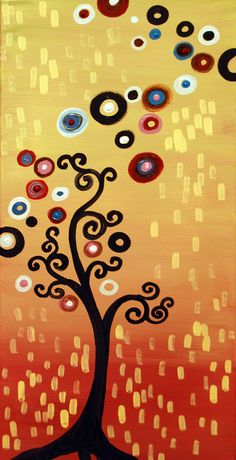 """""""Chanel Rise"""" by Natasha Wescoat ::: Her """"Jeweled Trees"""" series is bright and whimsical."""