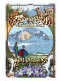 Rocky Mountain National Park, Colorado Montage Poster
